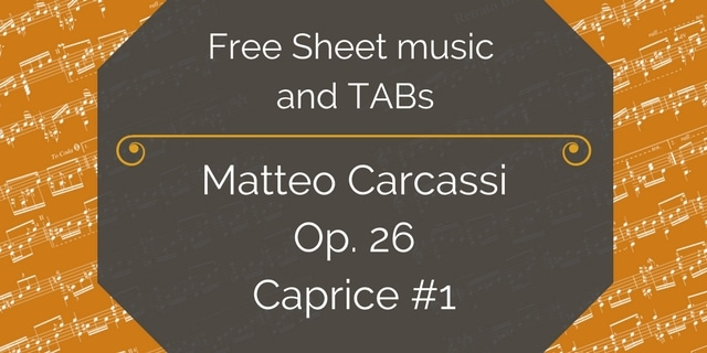 Free Sheet music and TABs-1