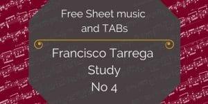 Tarrega study 4 free pdf