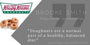 Krispy Kream guitar doughnuts
