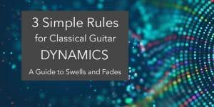 classical guitar dynamics phrasing
