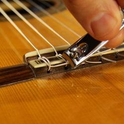 trim guitar string tail