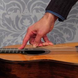 stretching guitar guitar string