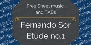 free Sor etude 1 guitar