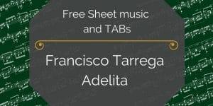 Free Tarrega adelita pdf