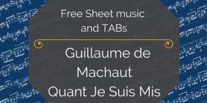 free machaut pdf guitar