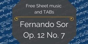Fernando sor free guitar pdf