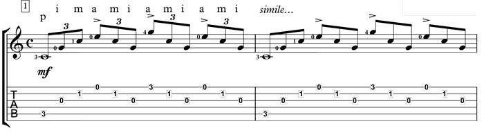 tarrega study in c ii-26 classical guitar
