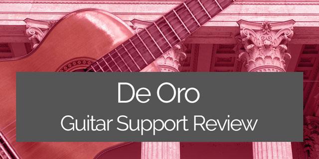 De Oro guitar support review