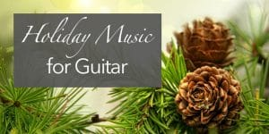 holiday music for classical guitar sheet music tabs