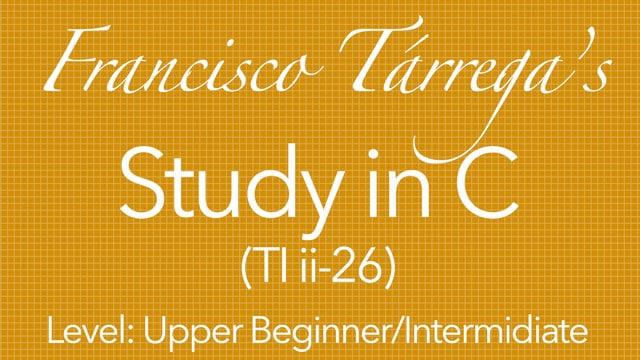 Francisco tarrega study in a