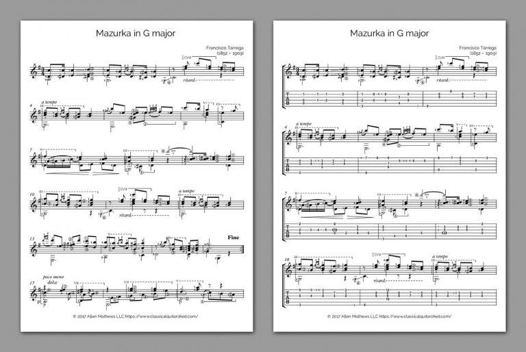 tarrega guitar method pdf