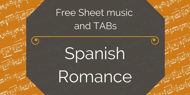 spanish romance anon guitar pdf