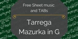 tarrega mazurka free pdf