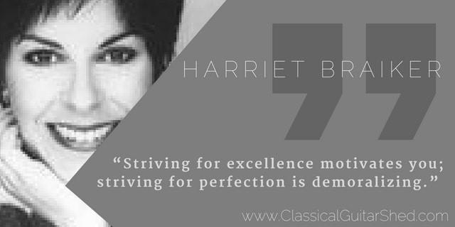 Harriet Braiker guitar quote