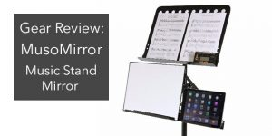 musomirror music stand guitar mirror