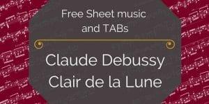 Debussy guitar lune pdf