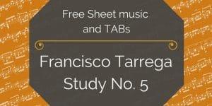 tarrega study guitar pdf