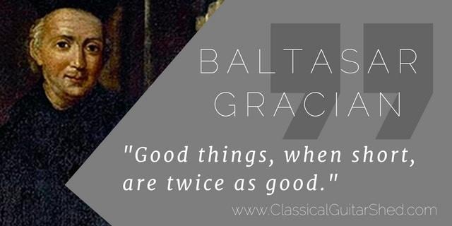 Baltasar Gracian guitar quote