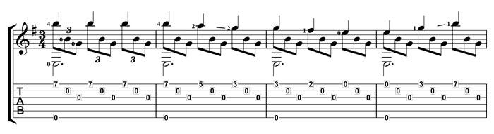 Romance guitar melody
