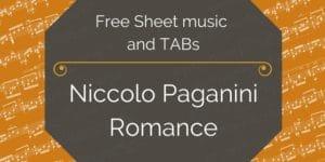 guitar paganiniromance pdf