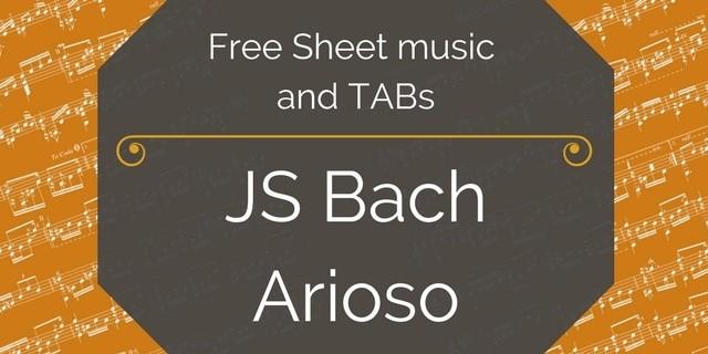 Bach Arioso guitar free