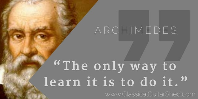 Archimedes learn guitar