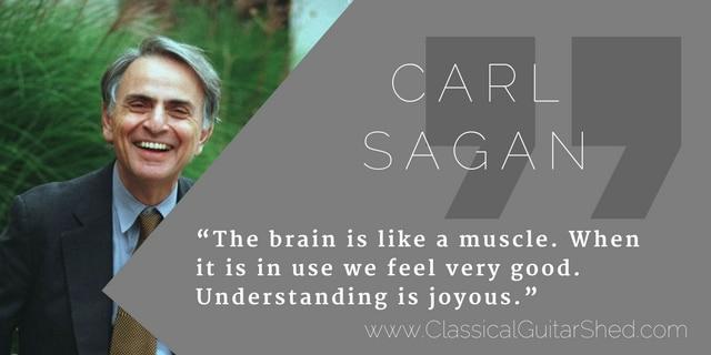 Carl Sagan guitar practice