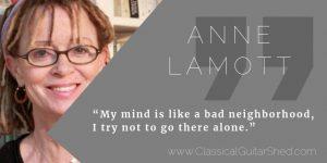 Anne Lamott guitar practice