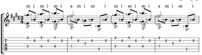 Lagrima for classical guitar