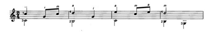Les Marionettes guitar score