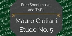 giuliani etude guitar pdf