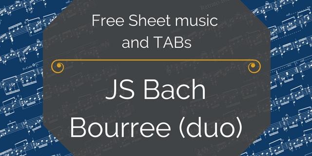 Bach Bourree duo pdf
