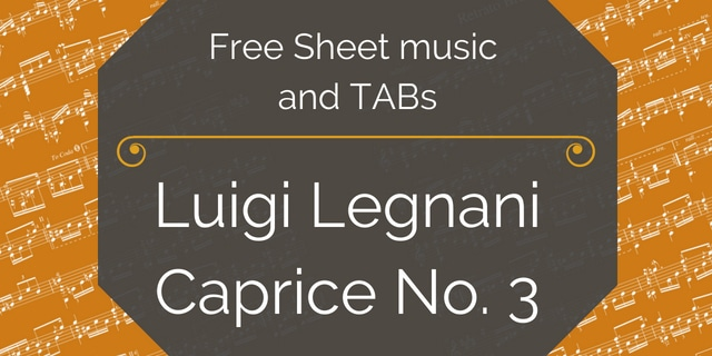 legnani guitar caprice free