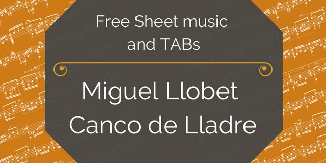 llobet canco pdf guitar