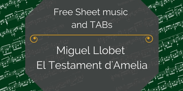 Llobet Testament free guitar