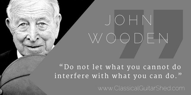 Quote] John Wooden on Developing Your Strengths
