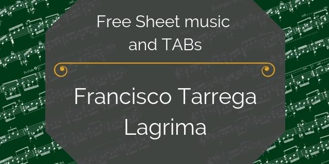 tarrega lagrima free pdf