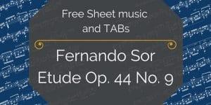 Sor guitar free pdf