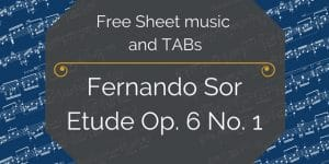 sor beginner guitar free