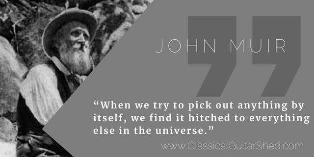 John Muir guitar practice