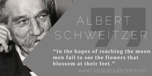 Albert Schweitzer guitar practice