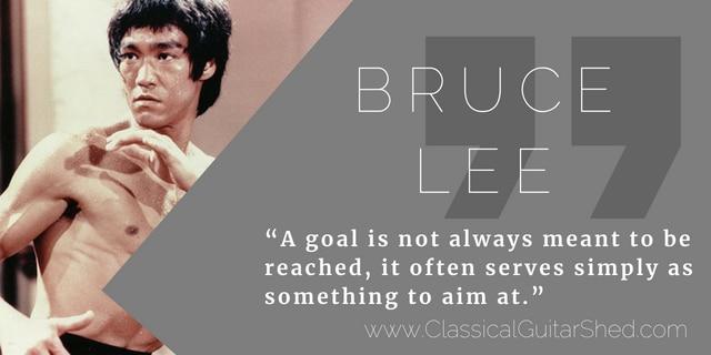 Bruce Lee guitar practice