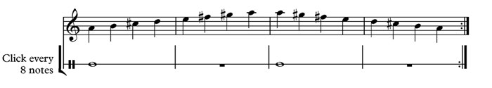 metronome 8 beats