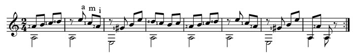 repeated sections