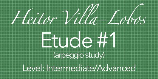 villa lobos etude study 1