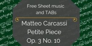 Carcassi easy guitar pdf