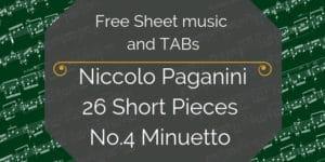 Paganini free guitar music