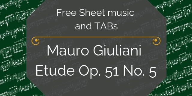 giuliani free guitar music