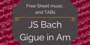 Bach free guitar music