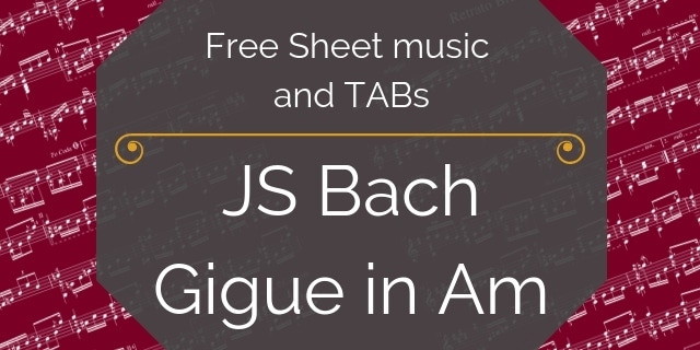 Bach free guitar music